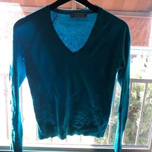 Turquoise blue Zara thin sweater
